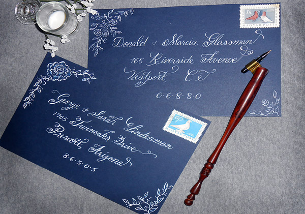 Envelope addressing done in Calligraphy from Designs By Lorise
