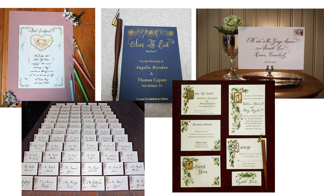 Calligraphy, Illumination, Hot Foiling and Design