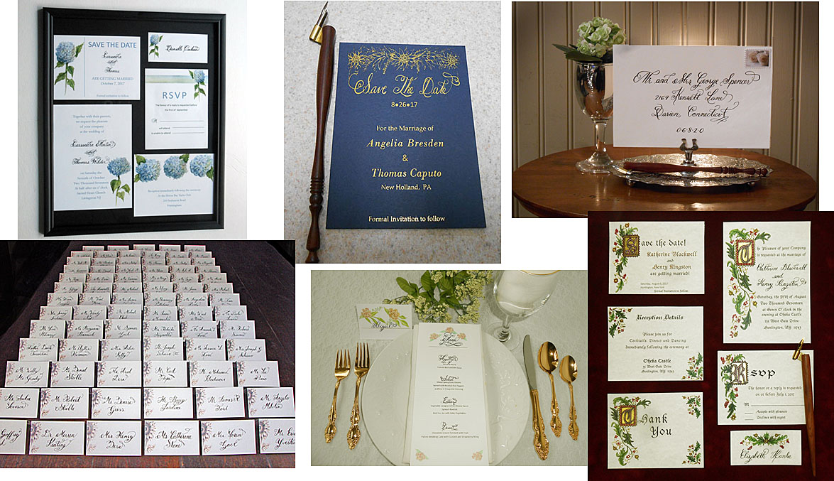 Calligraphy, Illumination and Hot Foiling from Designs By Lorise